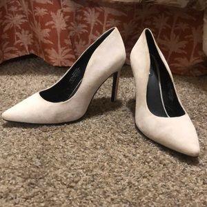H&M Cream Suede heels